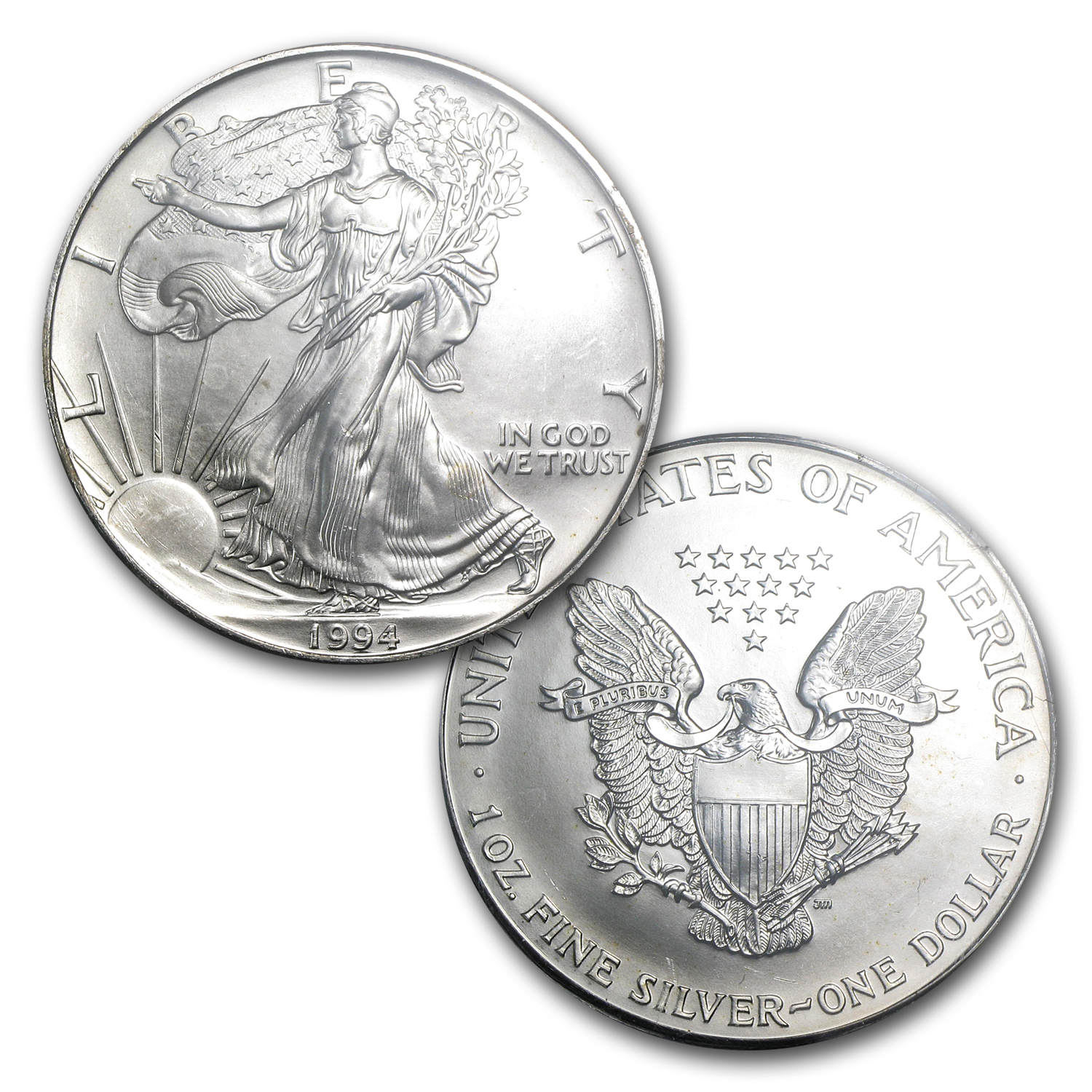 1994 Silver American Eagles - BU NGC - 20-Coin Sealed Tube